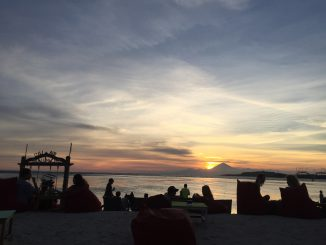 Gili Air Sonnenuntergang am Strand